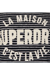 Superdry Womens Blue Amour Stripe Graphic Top