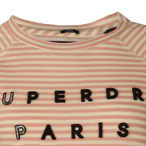 Superdry Womens Pink Applique Raglan Top main image