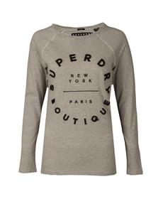 Superdry Womens Grey Applique Raglan Top