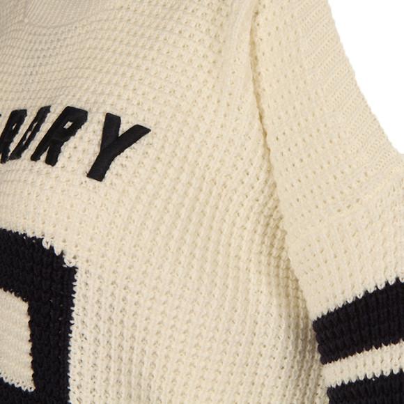 Superdry Womens Off-white Varsity Cold Shoulder Knit main image