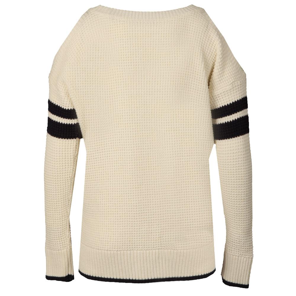 Varsity Cold Shoulder Knit main image