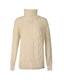 Superdry Womens Off-white Esmay Cable Knit