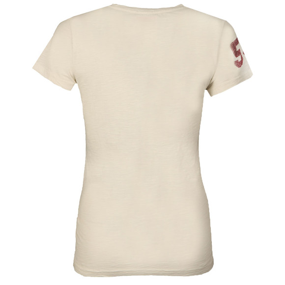 Superdry Womens Beige Vintage Logo Slub Entry T Shirt main image