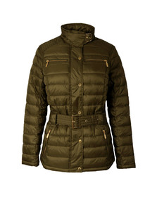 Barbour International Womens Green Cadwell Quilt Jacket
