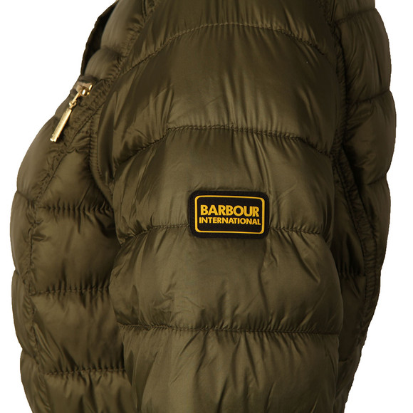 Barbour International Womens Green Cadwell Quilt Jacket main image