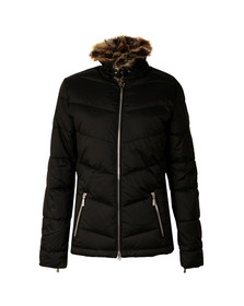 Barbour International Womens Black Garvie Quilt Jacket