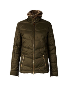 Barbour International Womens Green Garvie Quilt Jacket