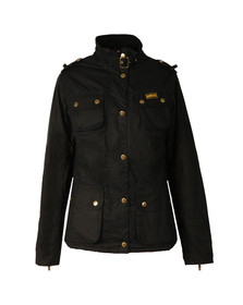 Barbour International Womens Blue Fins Wax Jacket