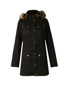 Barbour International Womens Green Mallory Wax Jacket