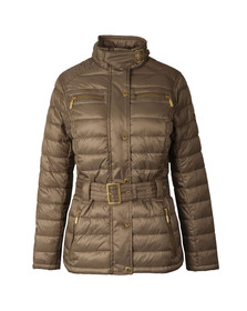 Barbour International Womens Beige Cadwell Quilt Jacket