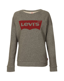 Levi's Womens Grey Boyfriend Crew Neck Sweat