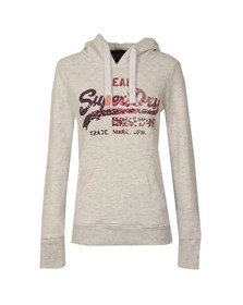 Superdry Womens Grey Vintage Logo Sequin Entry Hoody