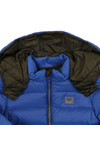 Armani Baby Boys Blue Hooded Puffer Jacket