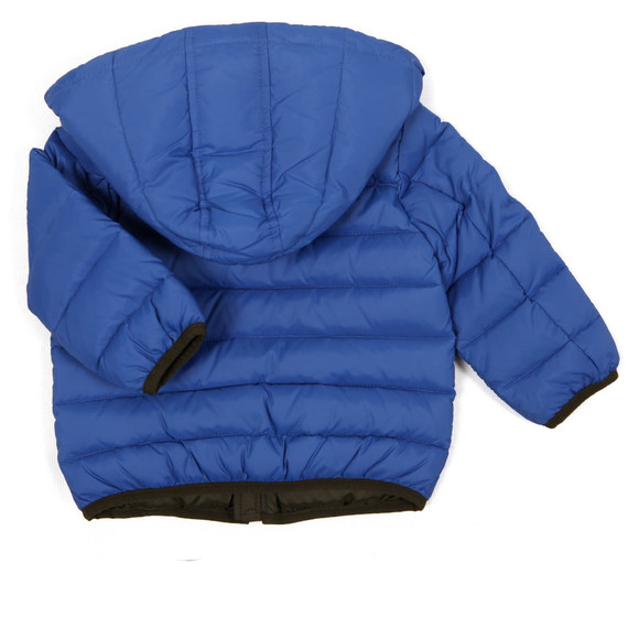 Armani Baby Boys Blue Hooded Puffer Jacket main image