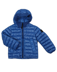 Stone Island Junior  Boys Blue Real Down Jacket