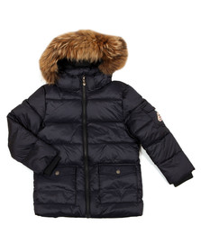 Pyrenex Boys Blue Authentic Jacket With Fur