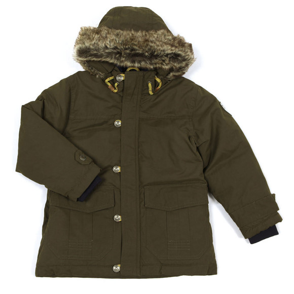 Timberland Boys Green Fur Hooded Parka