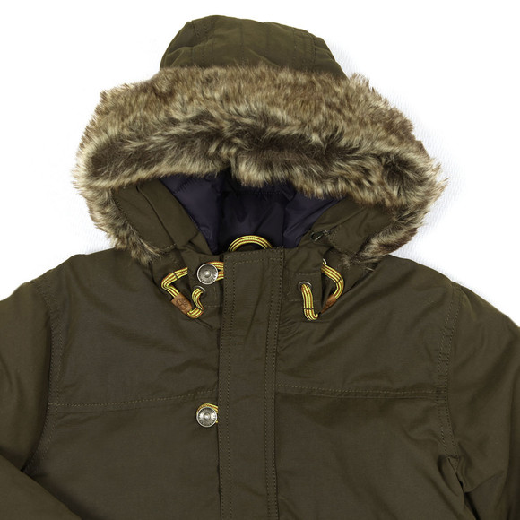 Timberland Boys Green Fur Hooded Parka main image