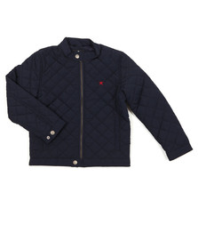 Hackett Boys Blue Classic Quilted Bomber Jacket