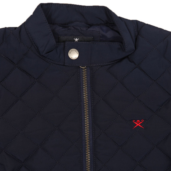 Hackett Boys Blue Classic Quilted Bomber Jacket main image