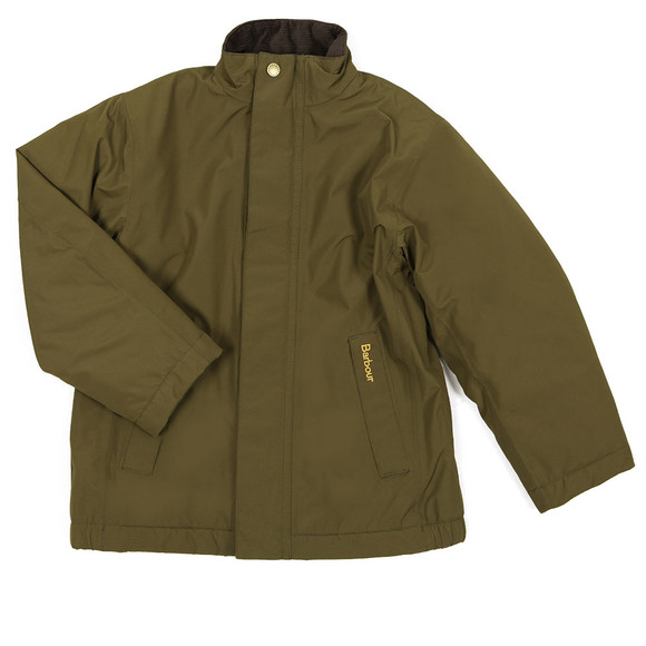 Barbour Lifestyle Boys Green Caldbeck Waterproof Jacket main image