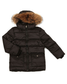 Pyrenex Boys Black Authentic Jacket With Fur