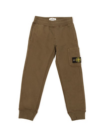 Stone Island Junior  Boys Green Button Badge Jogger
