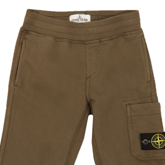 Stone Island Junior  Boys Green Button Badge Jogger main image