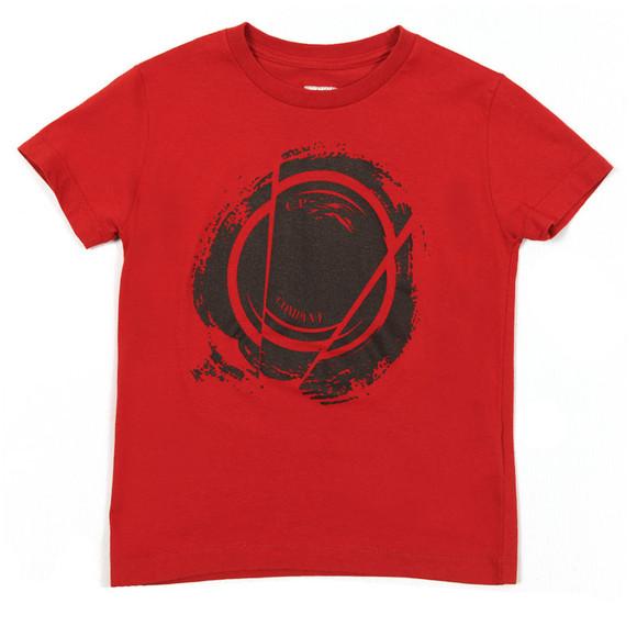 C.P. Company Undersixteen Boys Red Broken Lens T Shirt main image