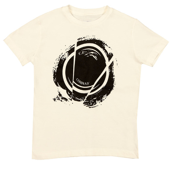 C.P. Company Undersixteen Boys White Broken Lens T Shirt main image