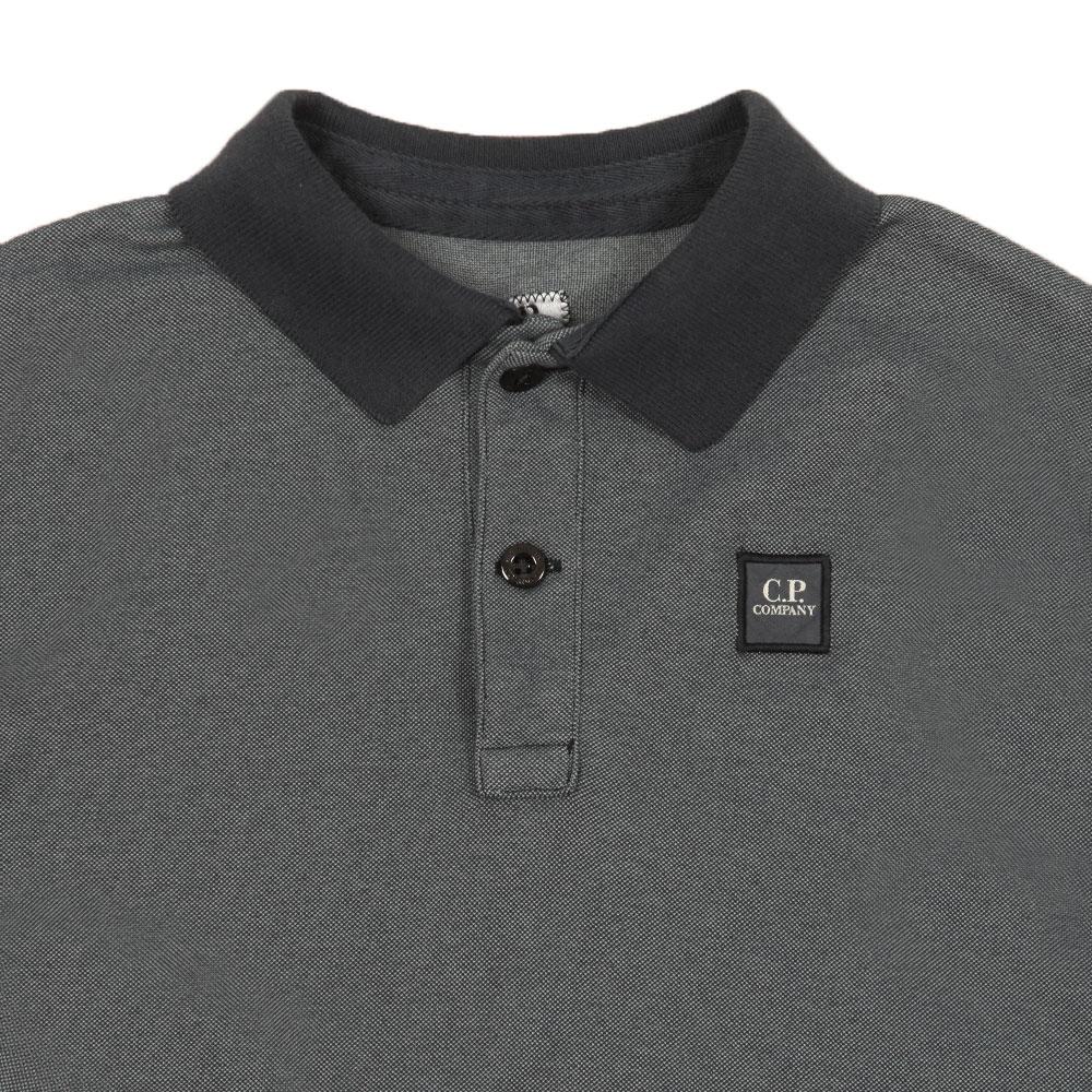 Contrast Collar Long Sleeve Polo Shirt main image