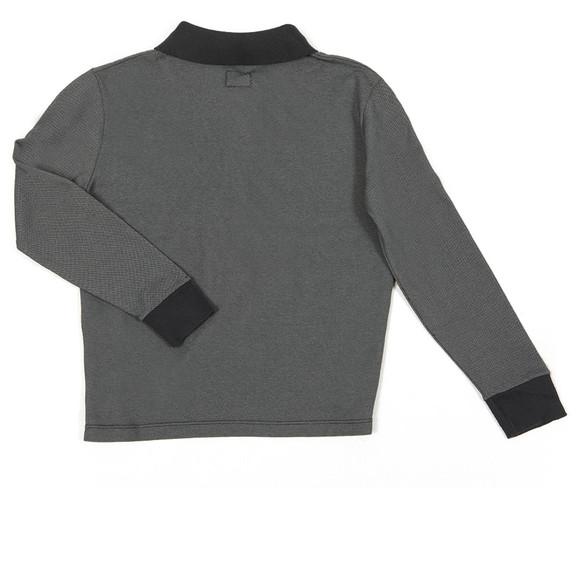 C.P. Company Undersixteen Boys Blue Contrast Collar Long Sleeve Polo Shirt main image