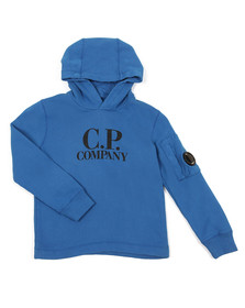 C.P. Company Undersixteen Boys Blue Overhead Hoody
