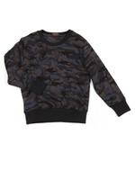 Shark Print Camo Sweatshirt