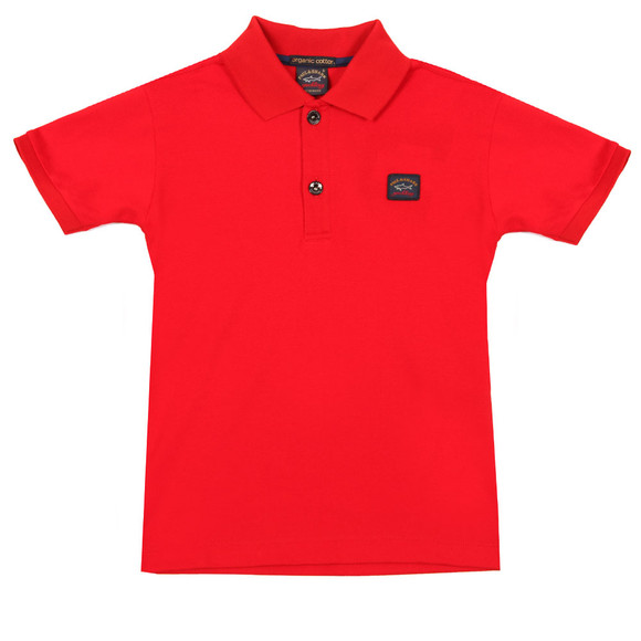 Paul & Shark Cadets Boys Red Plain Polo Shirt main image