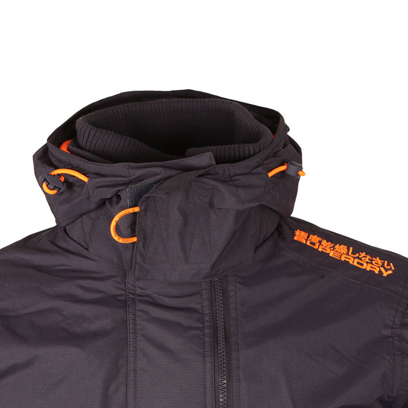Superdry Mens Blue Pop Zip Hooded Arctic Windcheater main image