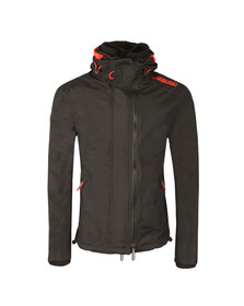 Superdry Mens Black Tech Hood Pop Zip Windcheater