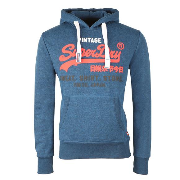 Superdry Mens Blue Sweat Shirt Store Tri Hood main image
