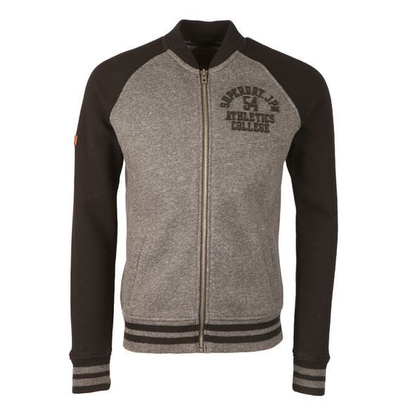 Superdry Mens Black Applique Sweat Bomber main image