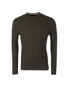 Superdry Mens Green Harlo Cable Crew Jumper
