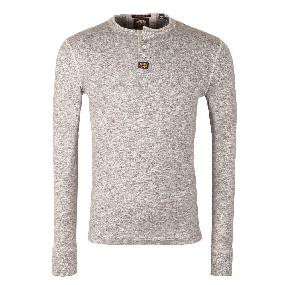 1afa280b Superdry Heritage LS Grandad T-Shirt   Masdings
