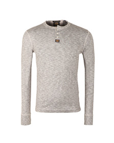 Superdry Mens Grey Heritage LS Grandad T-Shirt