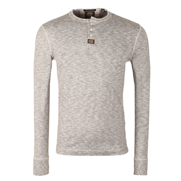 cb0cf94c Superdry Mens Grey Heritage LS Grandad T-Shirt main image