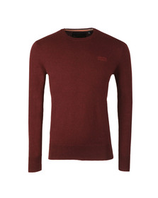 Superdry Mens Red Orange Label Crew Jumper