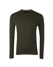 Superdry Mens Green Orange Label Crew Jumper