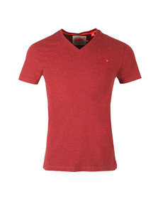Superdry Mens Red S/S Vintage Emb Vee Tee