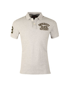 Superdry Mens Grey Classic SS Superstate Polo