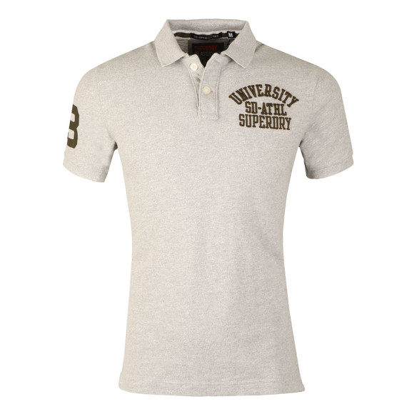 Superdry Mens Grey Classic SS Superstate Polo main image