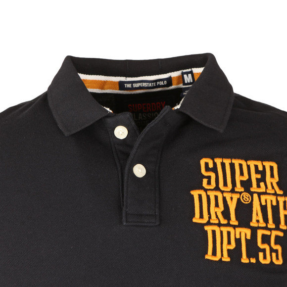 Superdry Mens Blue Classic SS Superstate Polo main image