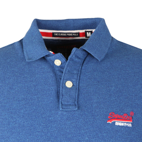 Superdry Mens Blue Classic Pique Polo main image